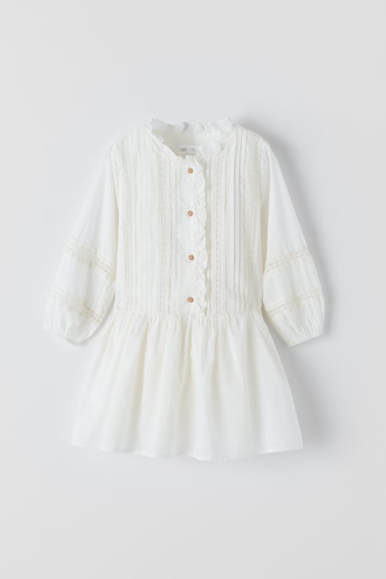 ROMANTIC DRESS WITH LACE TRIM