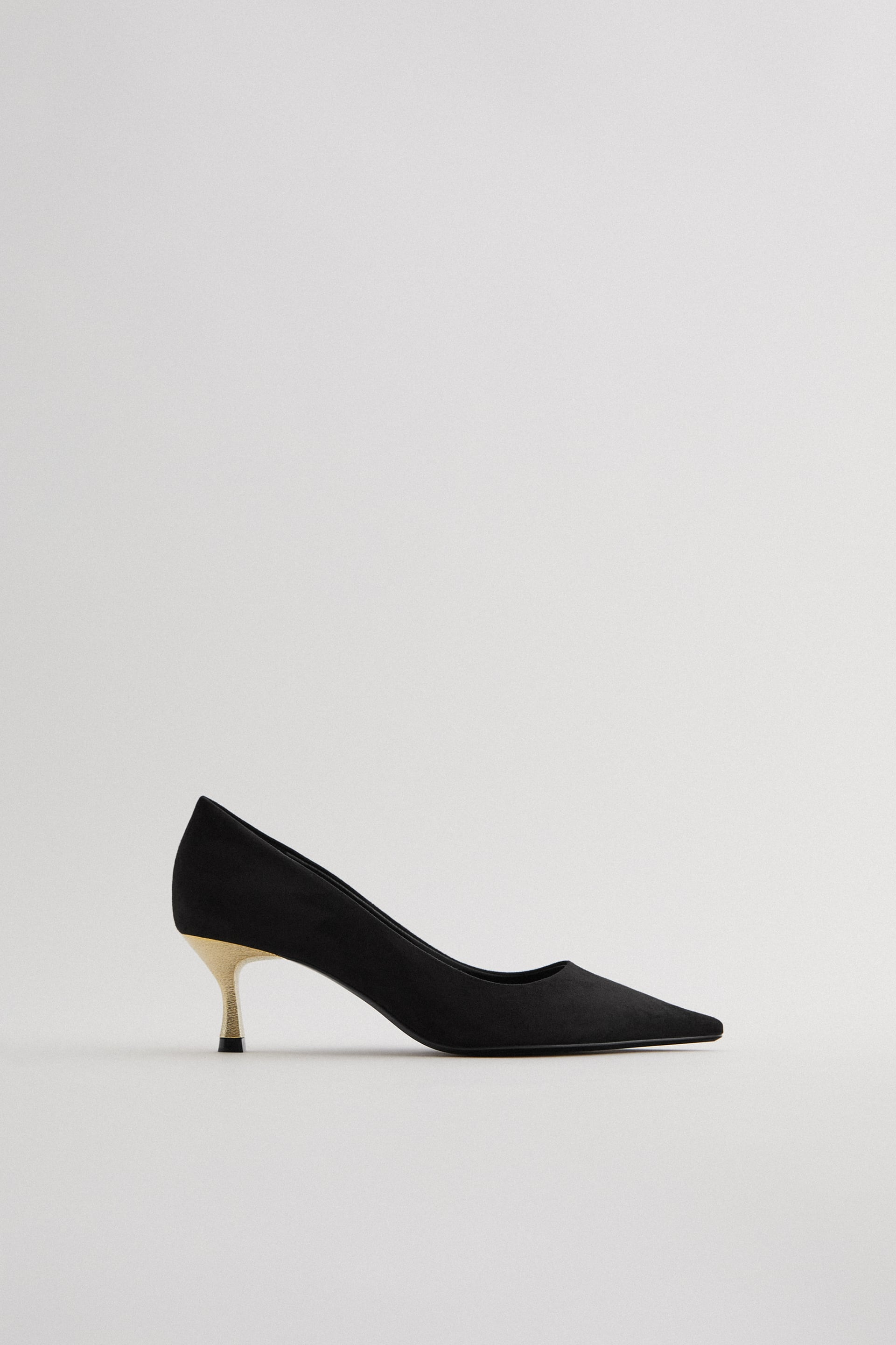 Black Kitten Heel Shoes