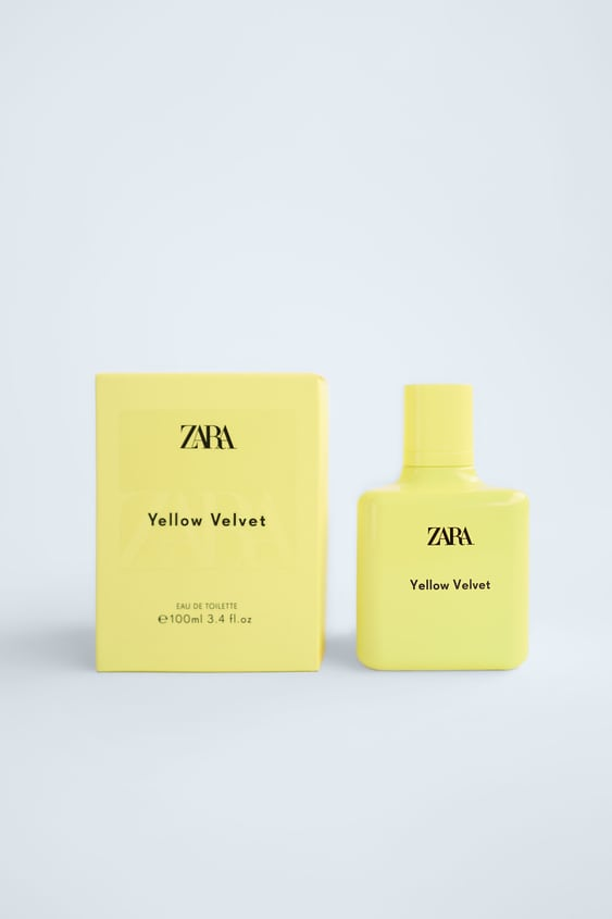 zara yellow velvet