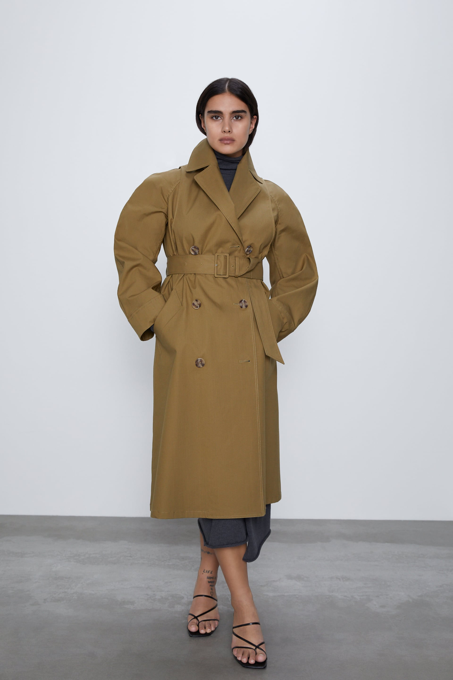 TRENCH COAT WITH MATCHING BELT | ZARA Indonesia