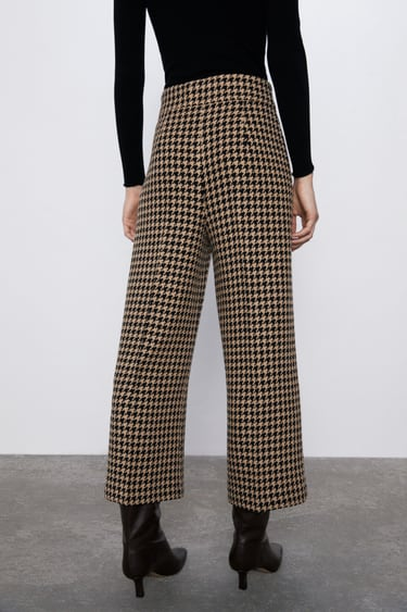 CULOTTE MIT HAHNENTRITTMUSTER
