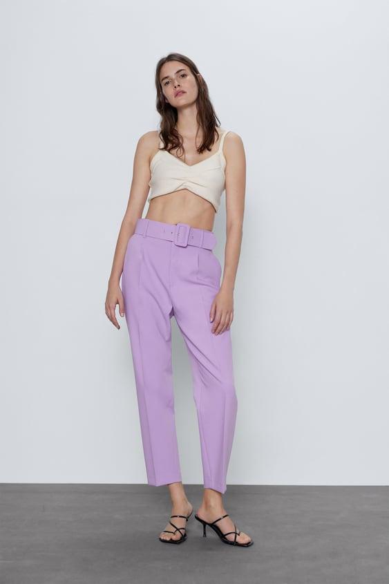 pantalon zara femme ceinture