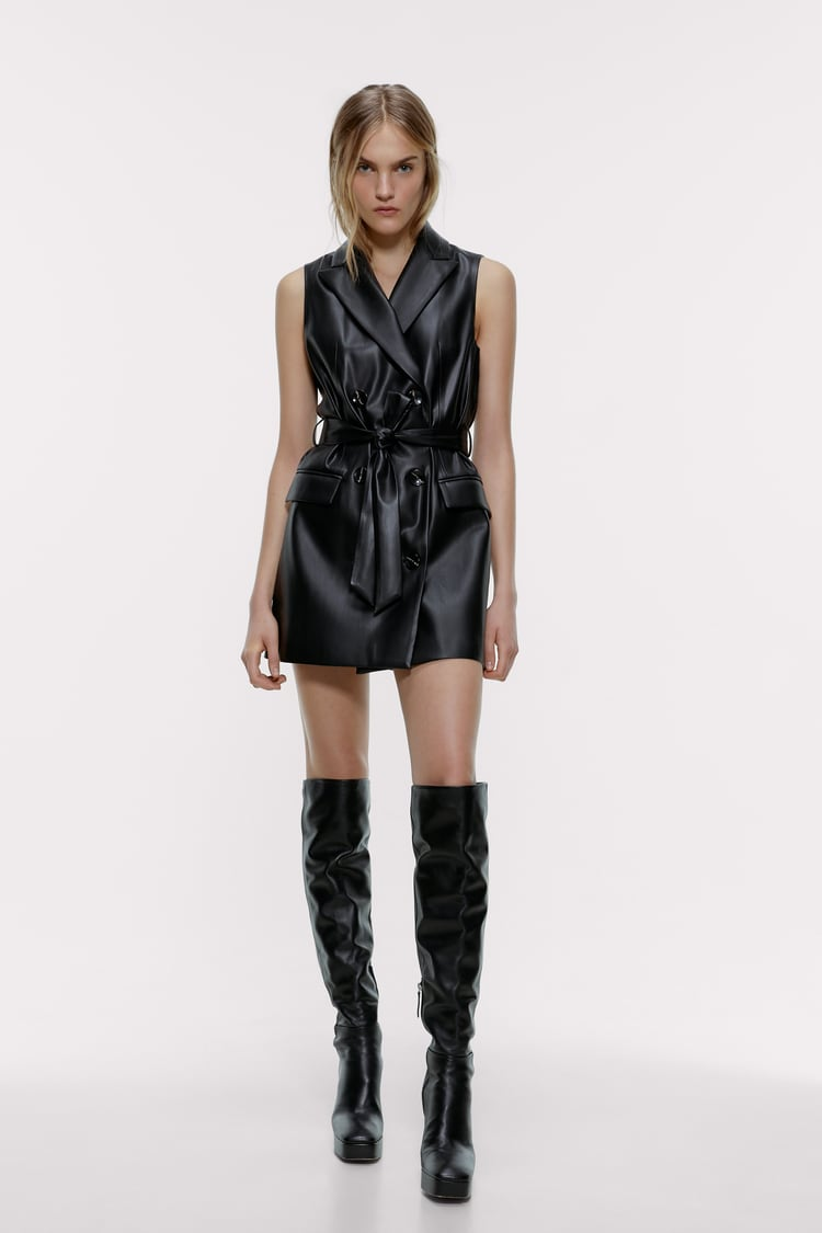 Image 1 of FAUX LEATHER WAISTCOAT from Zara