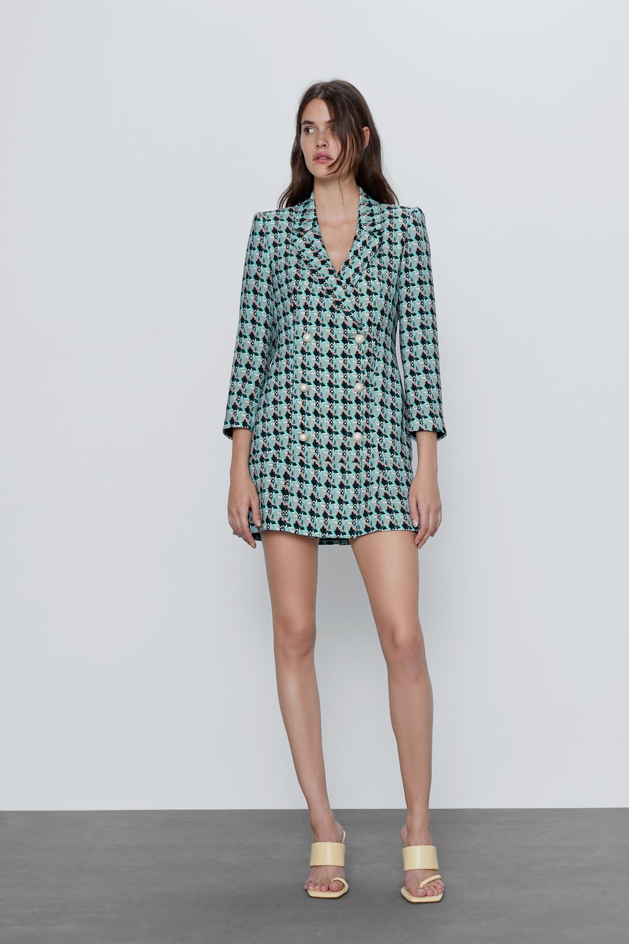 Image 1 of FAUX TWEED DRESS from Zara