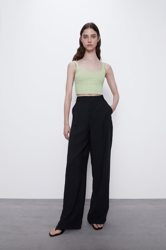JACQUARD CROPPED TOP