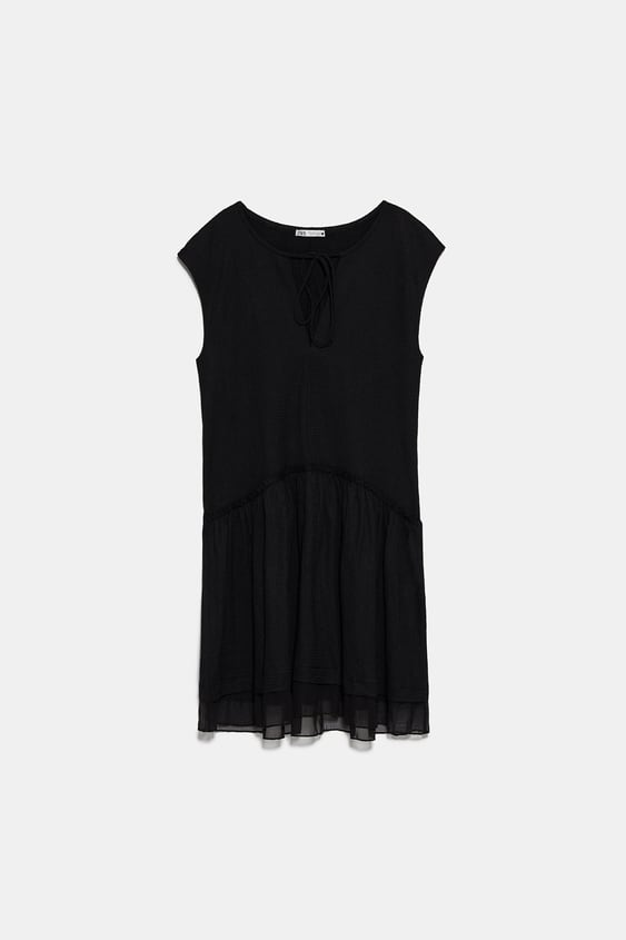 CONTRAST TULLE DRESS
