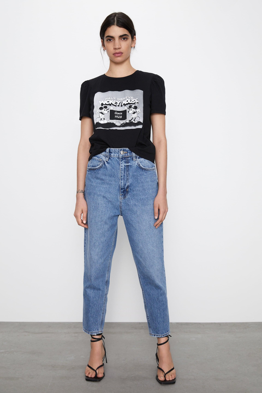 tee shirt femme zara mickey