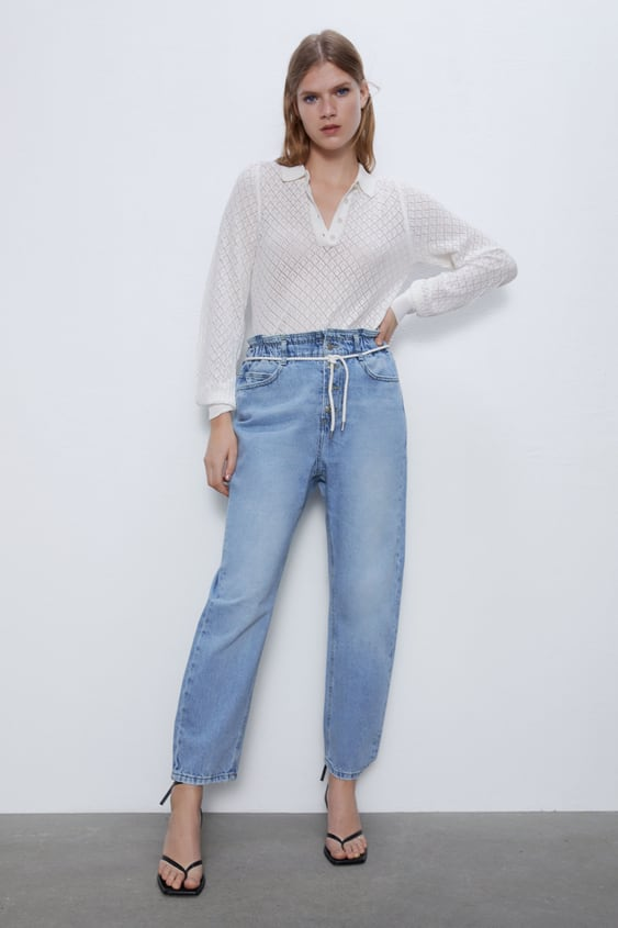 Z1975 BAGGY JEANS WITH ROPE DETAIL