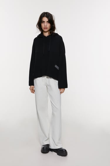 OVERSIZE-PULLOVER AUS MATERIALMIX