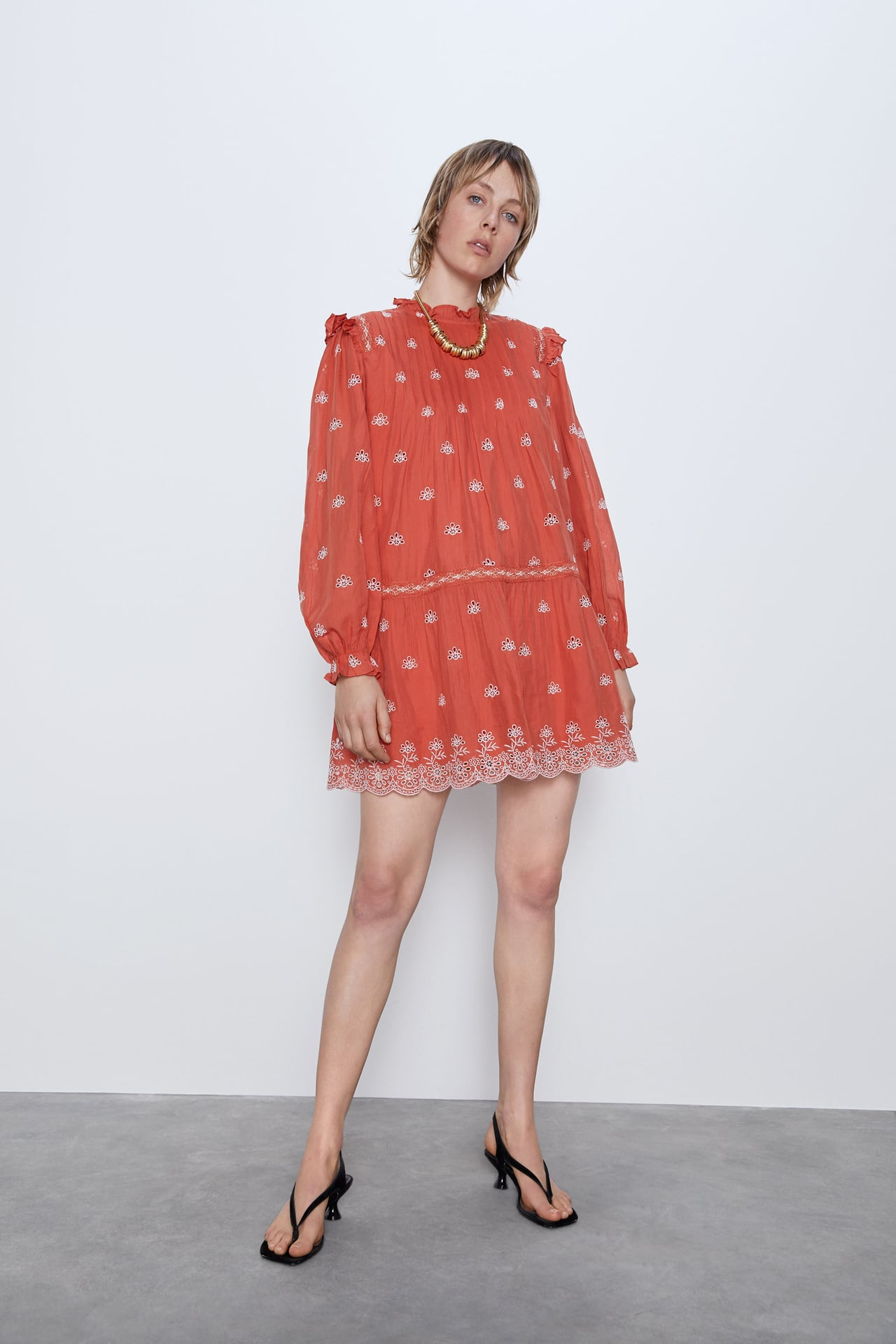 Image 1 of DRESS WITH CUTWORK EMBROIDERY from Zara