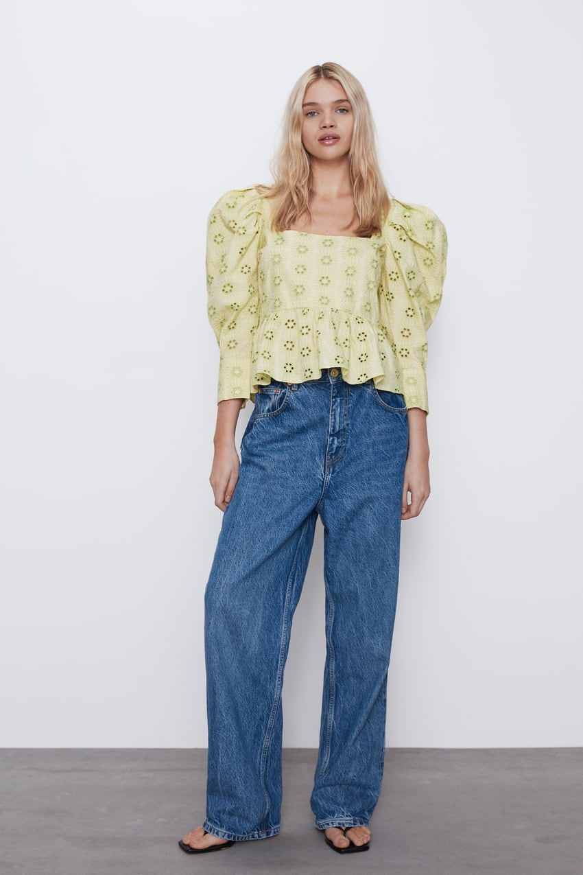 Image 1 of TOP WITH CUTWORK EMBROIDERY from Zara