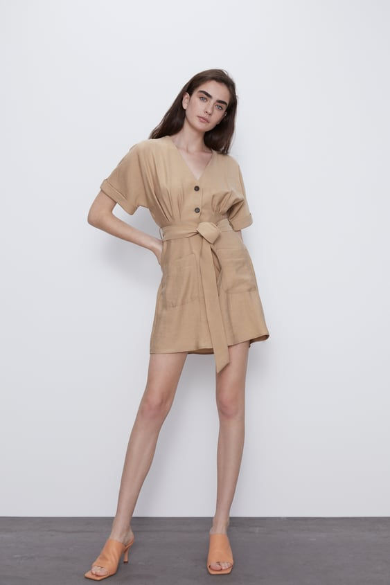 BUTTON-UP DRESS WITH POCKETS