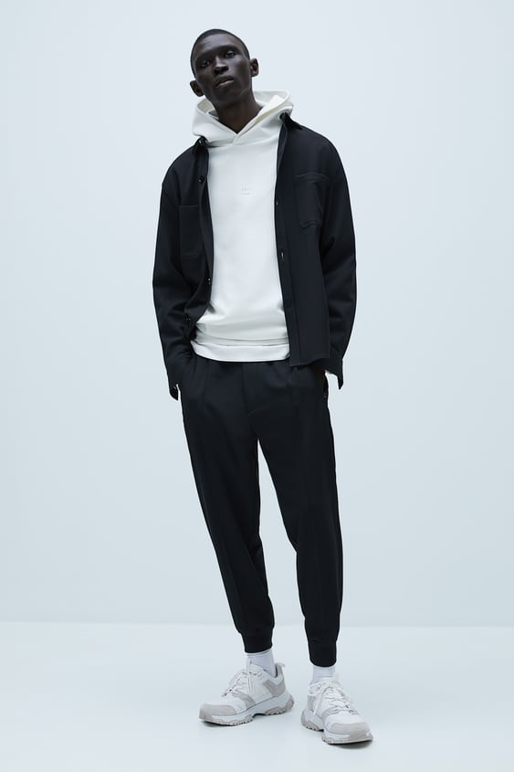 COMFORT KNIT HEATHERED JOGGING TROUSERS