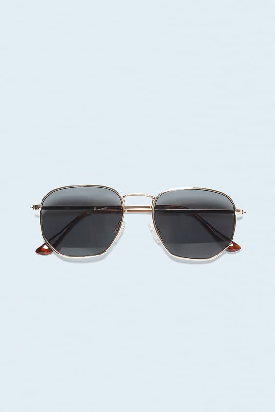 SUNGLASSES WITH GEOMETRIC FRAME