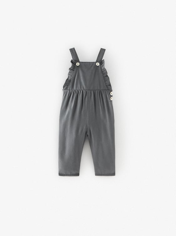 Black frill dungarees