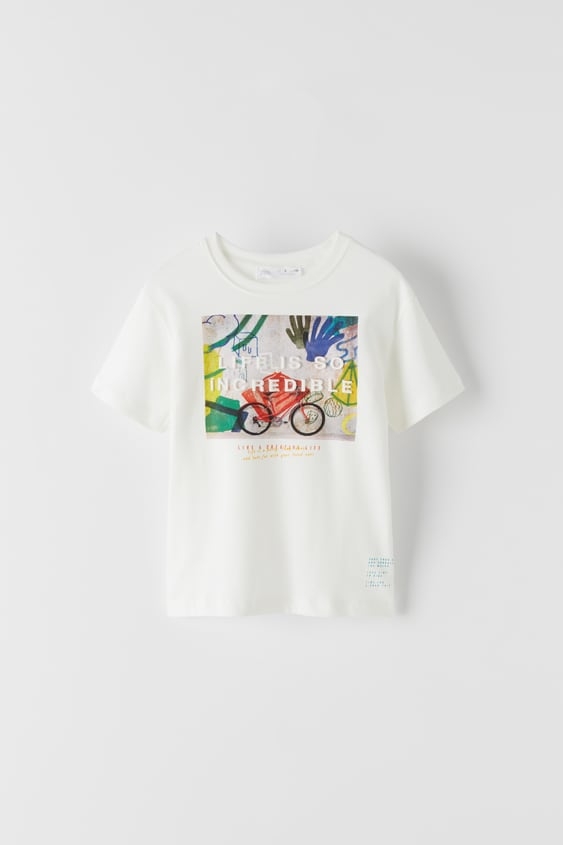 EMBOSSED PHOTOGRAPH T-SHIRT