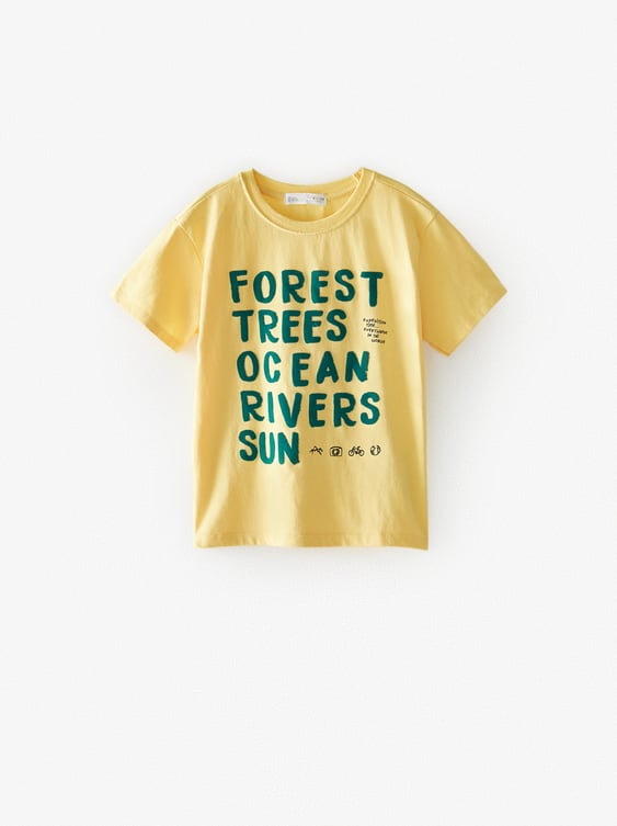 FOREST T-SHIRT WITH FLOCKING