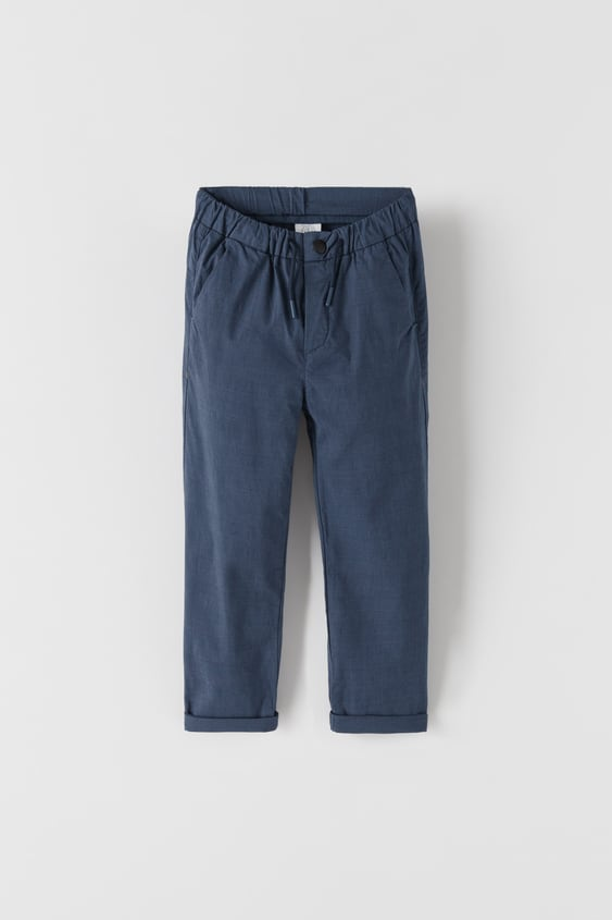 TROUSERS WITH BLURRED CHECK PRINT
