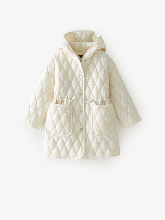 QUILTED DIAMOND PATTERN COAT