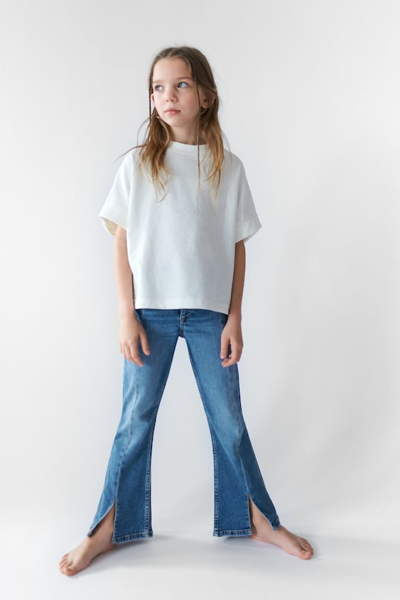 FLARED JEANS WITH SEAM DETAILS