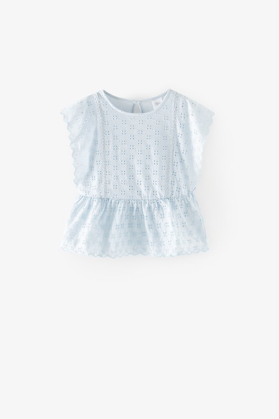 LACE T-SHIRT WITH FRILL