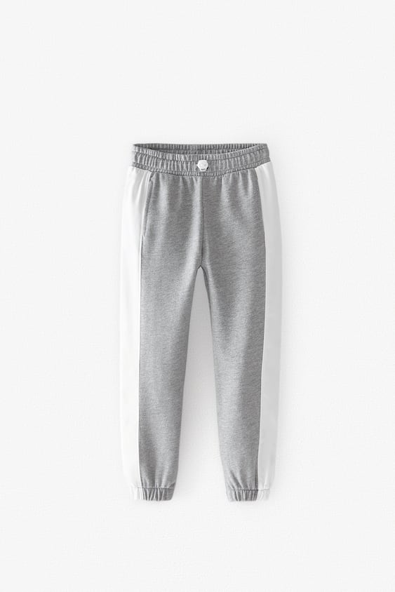 PLUSH TROUSERS WITH STRIPES