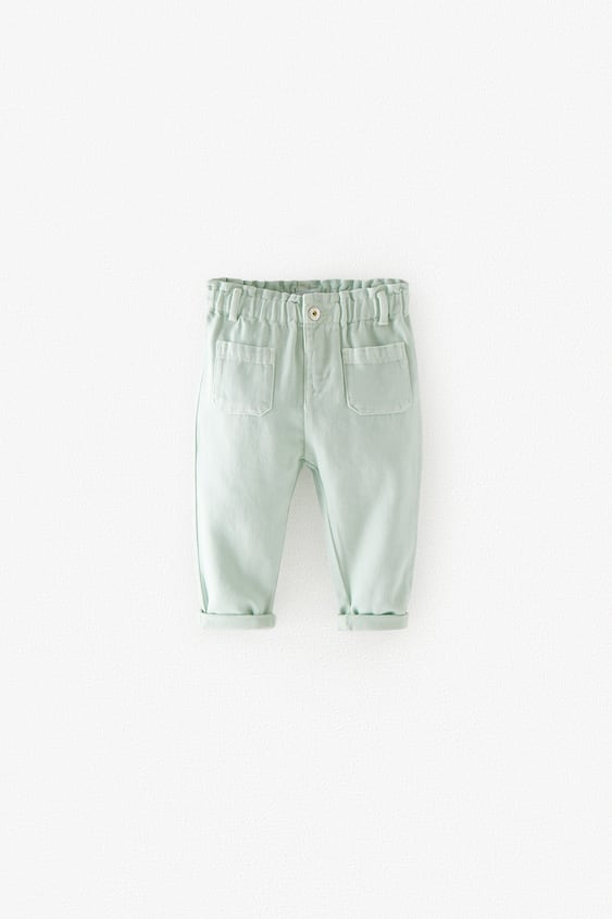 TWILL PAPERBAG TROUSERS