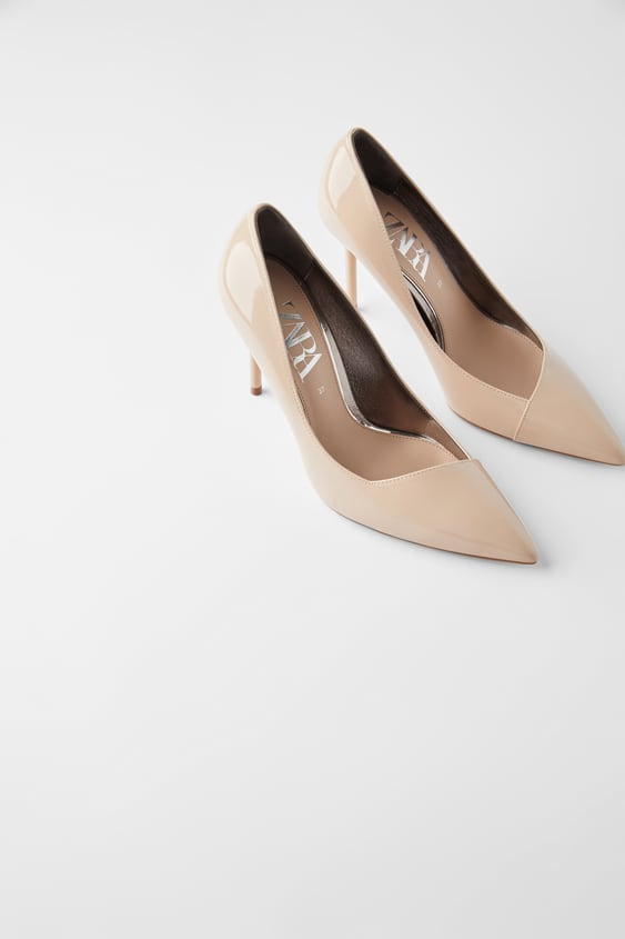 PATENT FINISH HIGH HEEL SHOES