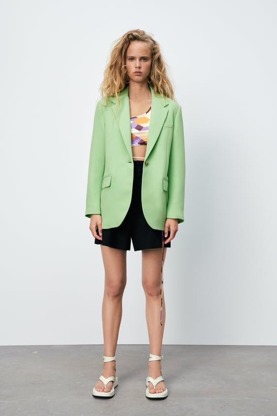 Green Oversized Zara Blazer