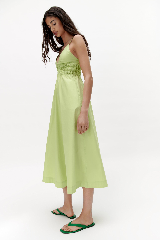 POPLIN DRESS   Apple green   ZARA Turkey