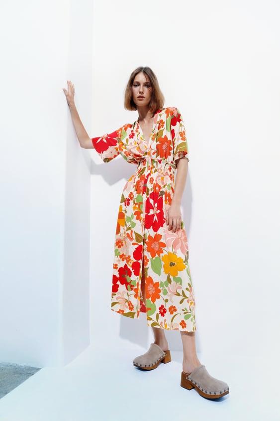 Kleid Mit Blumenmuster Zara Deutschland Germany