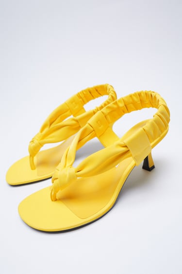 KNOTTED MID-HEEL SANDALS from Zara