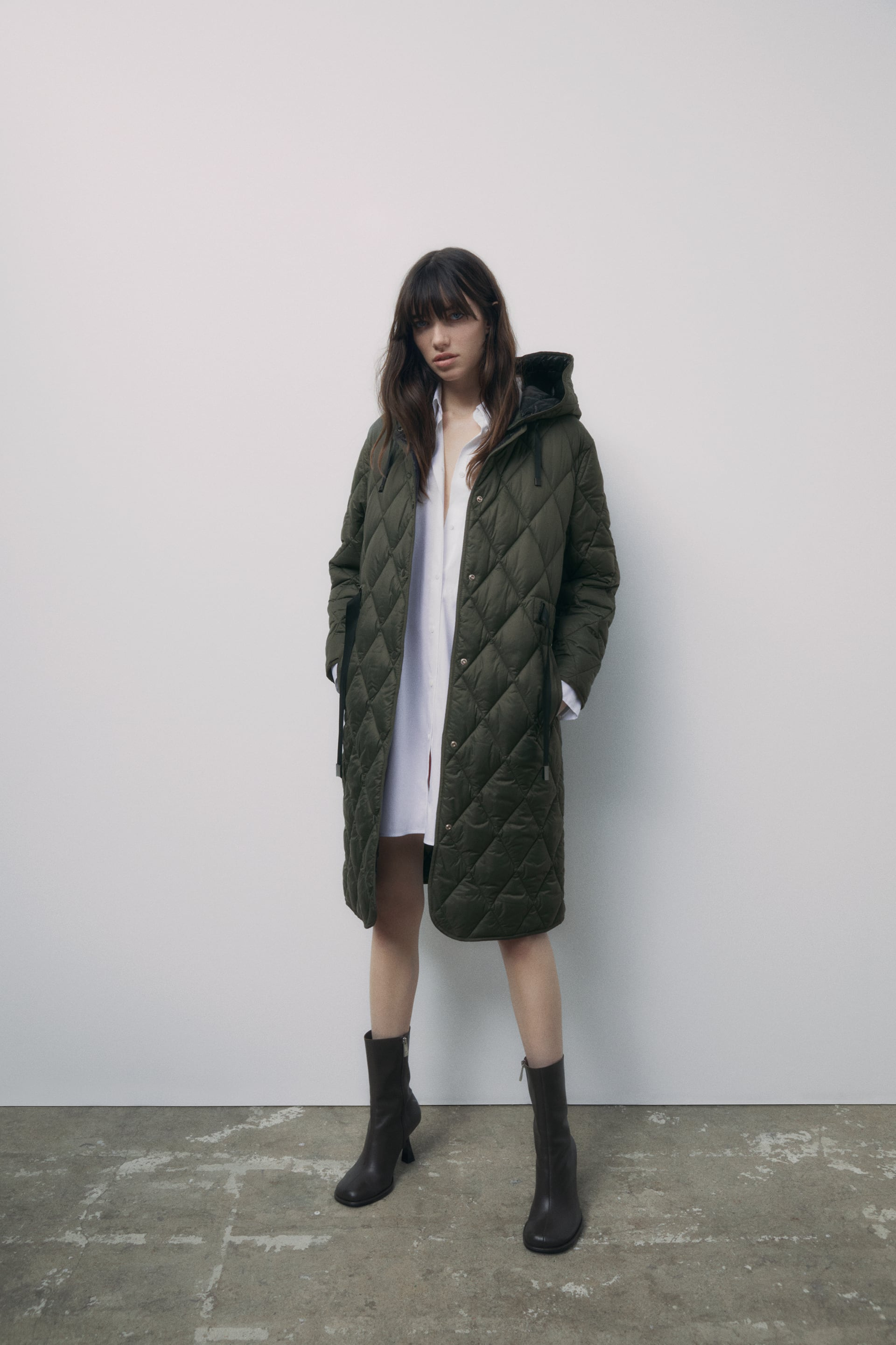 Image 1 of QUILTED COAT WITH WATER AND WIND PROTECTION from Zara