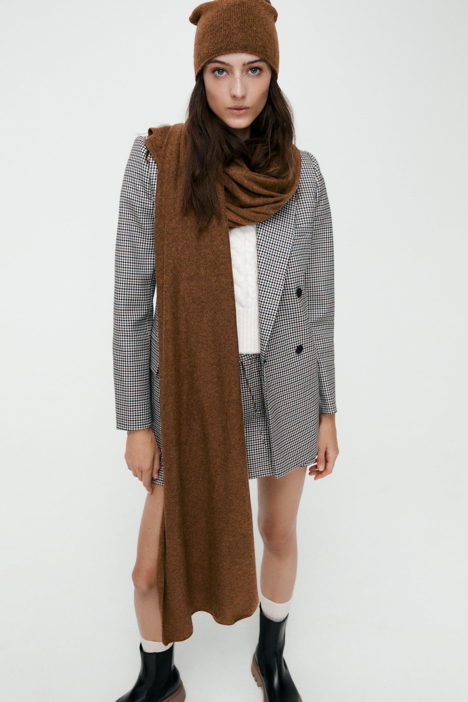 ZARA crème tricot écharpe