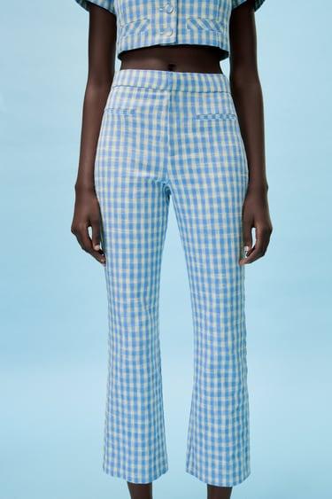 Warm Trousers High Waist Plaid Pants Maxi Pants by SSDfashion Extravagant Pants Urban casual Maxi Trousers Clothing Soft Wool Pants