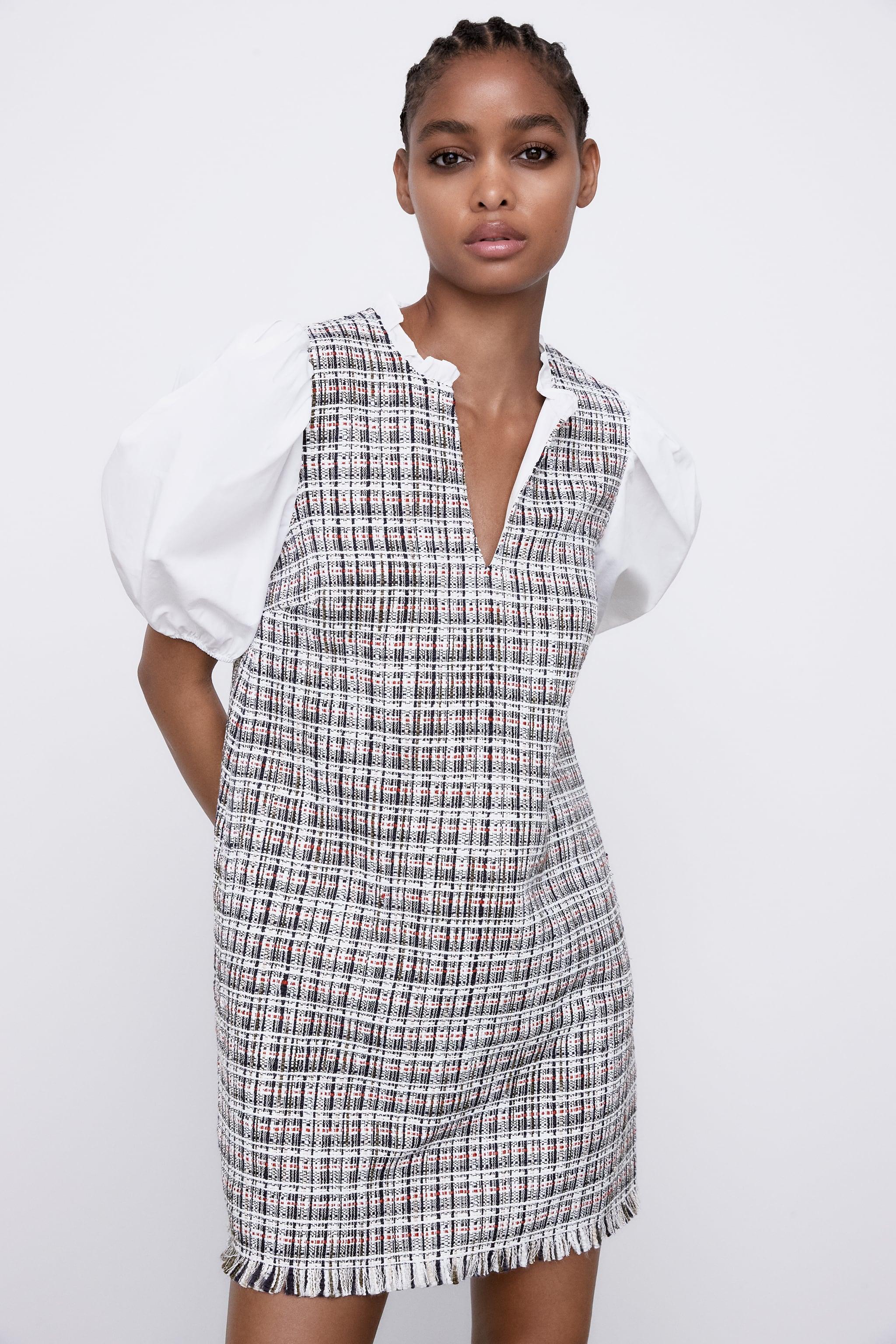 COMBINED STRUCTURED DRESS zara