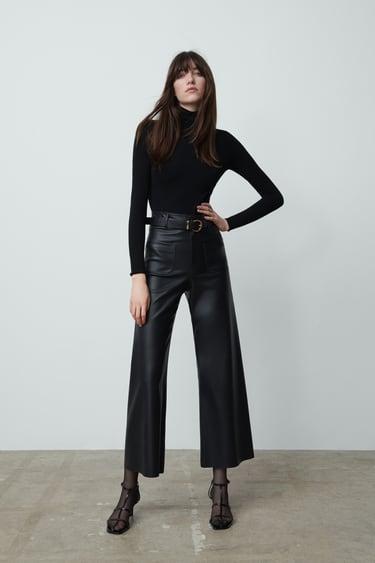 Pantalones Negros De Mujer Zara Espana