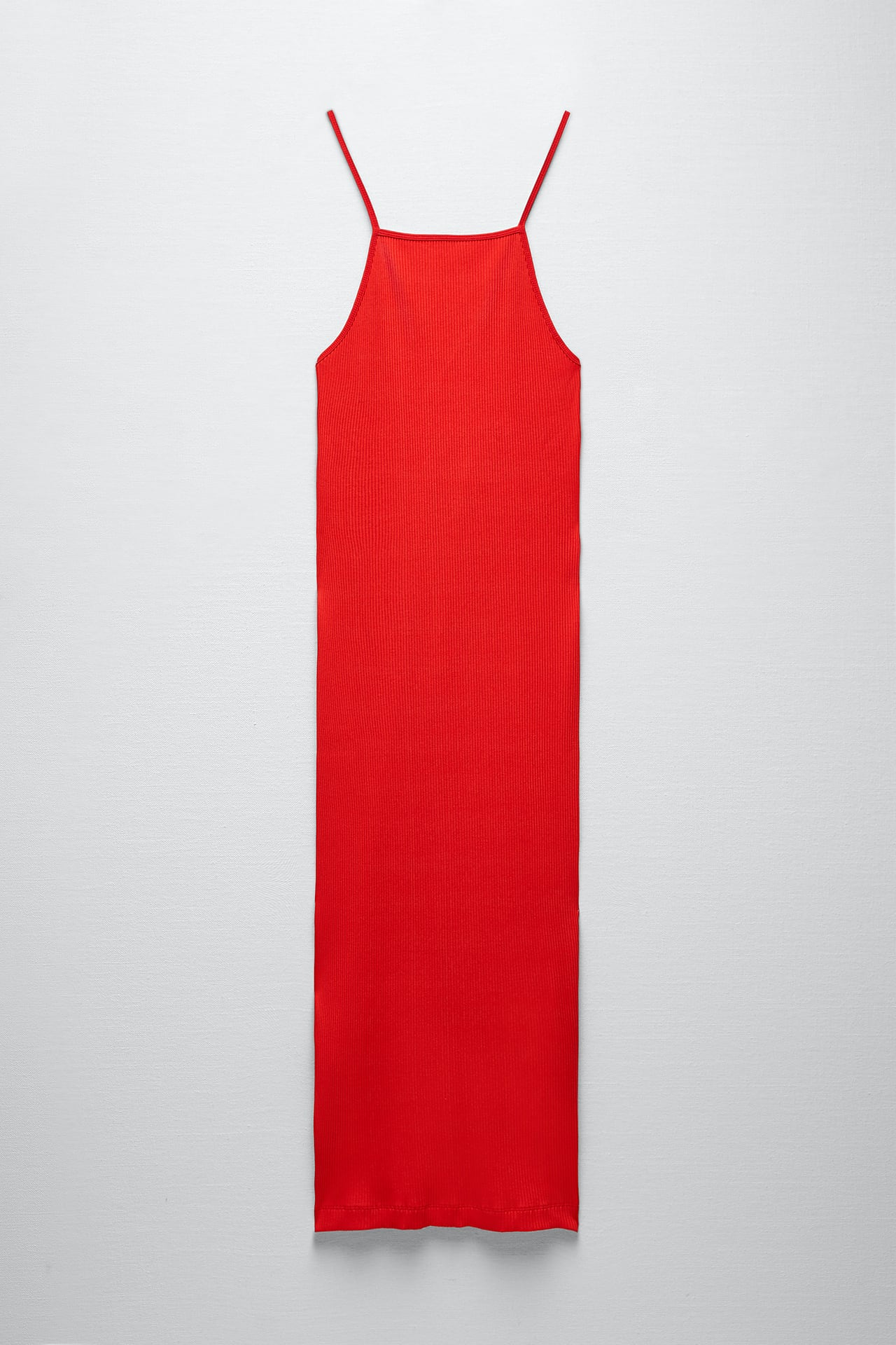 RIBBED DRESS WITH STRAPS