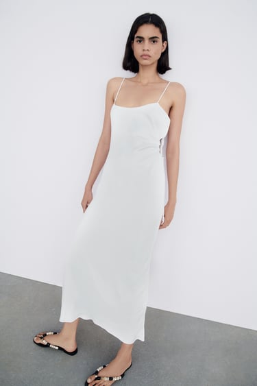 Image 3 of SATIN EFFECT CUT OUT DRESS from Zara