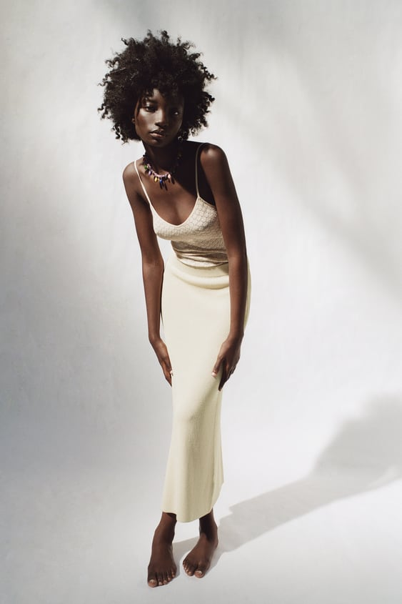 Long Knit Skirt Zara United Kingdom