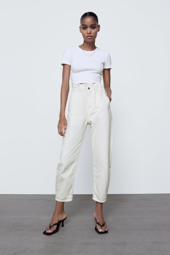 Zara Baggy Paperbag Trousers