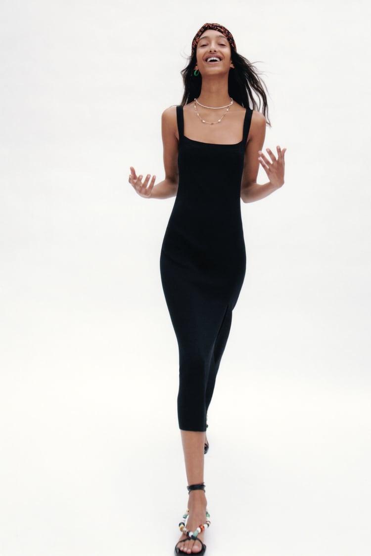 Image 0 of KNITTED SLEEVELESS DRESS from Zara