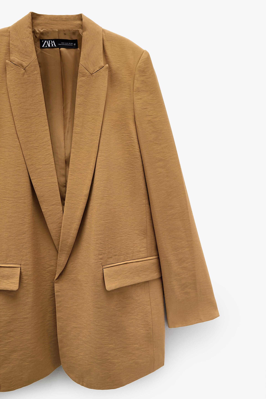 LANGPIAOEZU M/änner Fronttasten Herren Blazer Zebra Print Bronzing Zwei-Knopf-Anzug Jacken Casual Slim Fit Mantel for Nachtclub Dance Party Tasche Color : Golden, Size : 2XL
