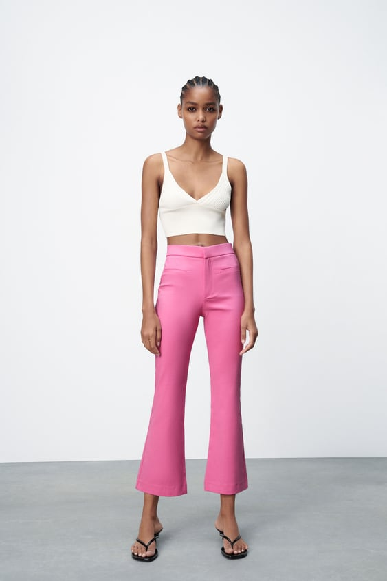 Image 0 of MINI FLARE TROUSERS from Zara