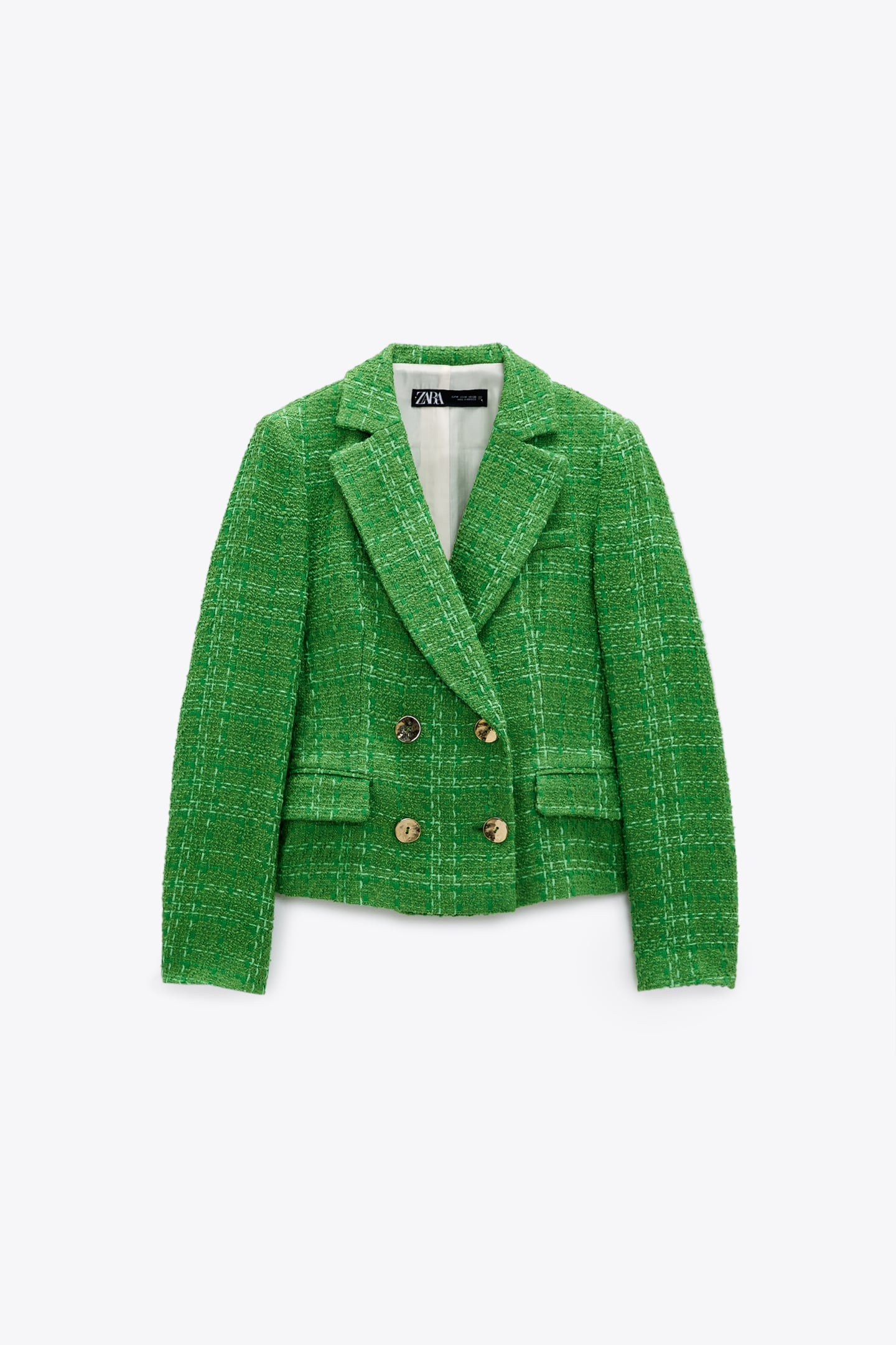 TEXTURED DOUBLE-BREASTED BLAZER from Zara