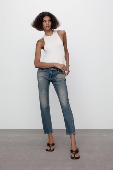 Vaqueros Tiro Medio De Mujer Zara Espana