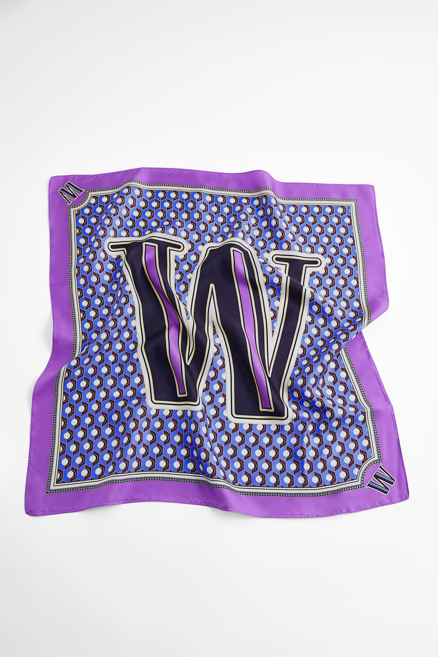Image 0 of SILK SCARF WITH INITIAL - LIMITED EDITION from Zara