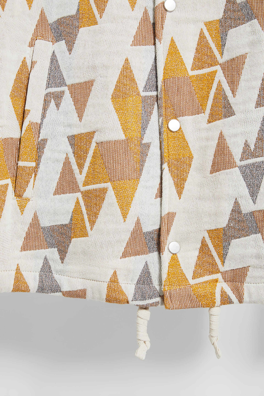 ZARA Manteau jacquard géométrique avec ceinture taille M//L RRP £ 89.99
