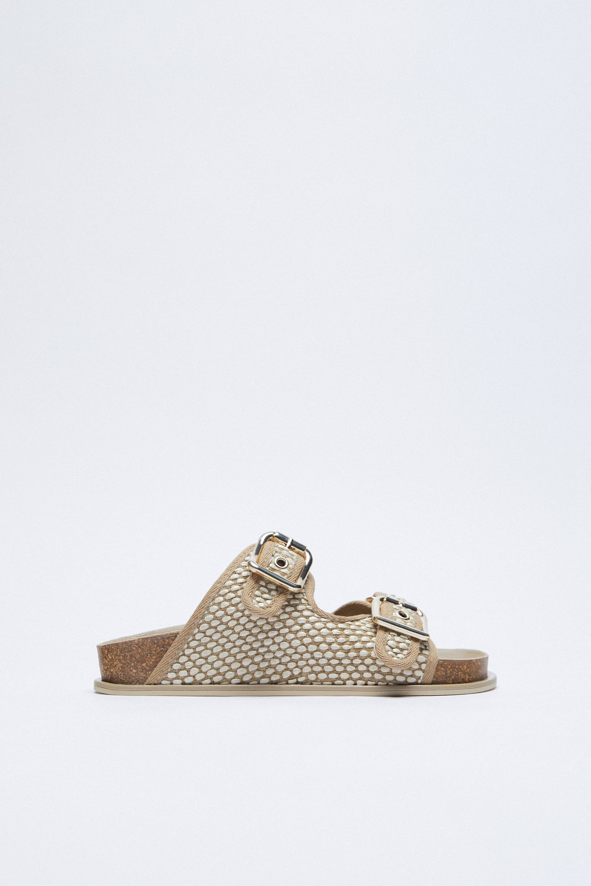 Details about  /Ladies Down To Earth Padded Footbed Elasticated Pull On Textile Sandals F1R0406