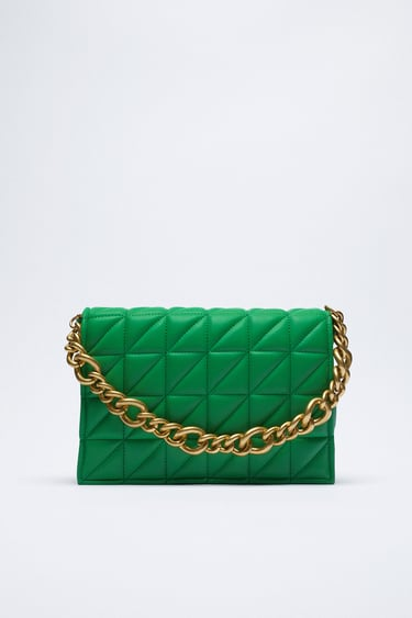QUILTED SHOULDER BAG WITH CHAIN from Zara